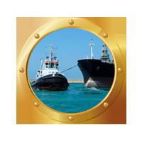 Tug-Towing-Ship-Gold-Circle Tug-Towing-Ship-Gold-Circle